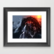 Shadow Titan Framed Art Print