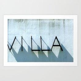 Villa Shadows Art Print