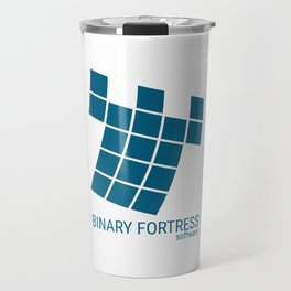 Binary Fortress Software (blue logo) Travel Mug