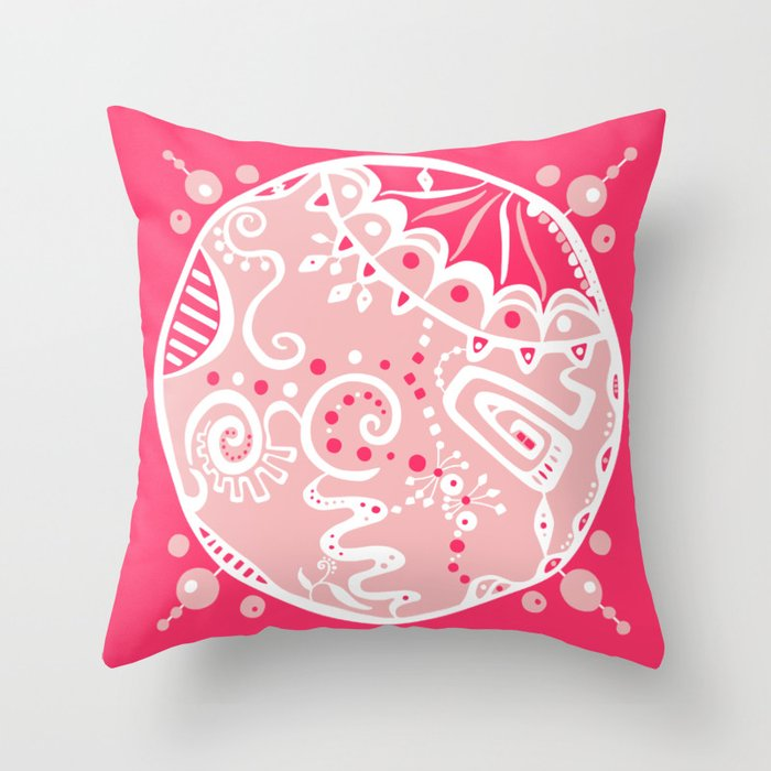 Dot #7 by lalalamonique Throw Pillow
