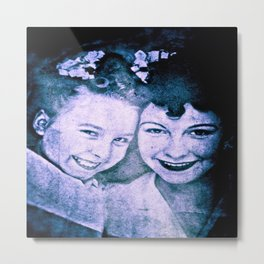 Mother and Daughter - circa WWIIpsd - 112 of 479 copy Metal Print
