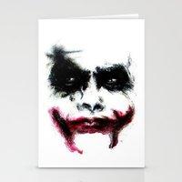 joker Stationery Cards featuring Joker by Lyre Aloise