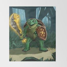 Turtle Paladin Throw Blanket