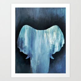 Invisible Pachyderm Art Print
