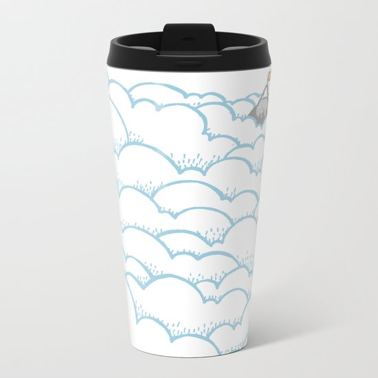 Peak above the clouds Metal Travel Mug