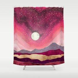 Scarlet Night Shower Curtain