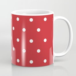 POLKA DOTS RED #minimal #art #design #kirovair #buyart #decor #home Coffee Mug