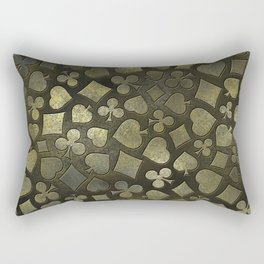 Vintage Gold and Marble Suits Pattern Rectangular Pillow