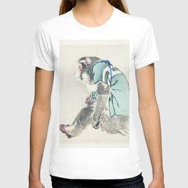 Monkey by Kōno Bairei (1844-1895) - japanese art T-shirt