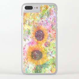 Cosmic Helianthus - Sunflowers Clear iPhone Case