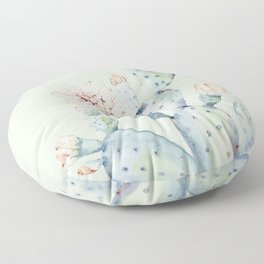 Prettiest Mint Cactus Rose Floor Pillow