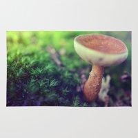 mushroom Area & Throw Rugs featuring Mushroom by Ekaterina La