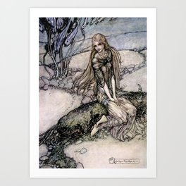 "Arthur Rackham Fairy Art from ""Undine"" Art Print"