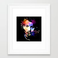 johnny depp Framed Art Prints featuring Johnny Depp by BIG Colours