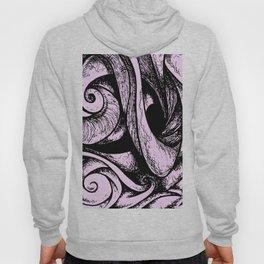 Swirl (black and pink) Hoody