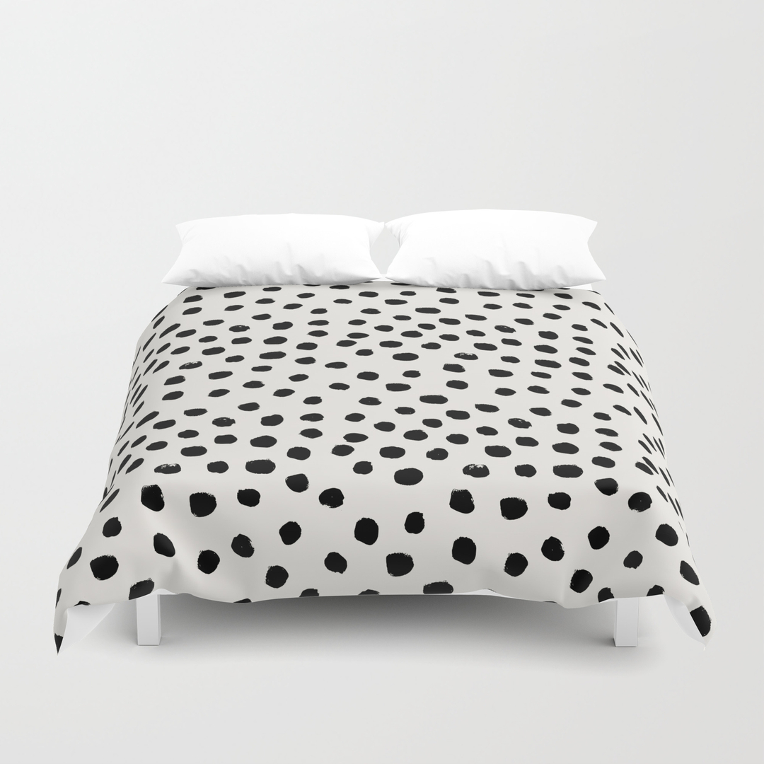 collection of black and white polka dot sheets all can download