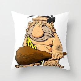 Caveman! Throw Pillow