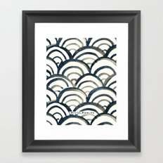 Scallop-Indigo Framed Art Print