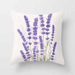 Lavender II Throw Pillow