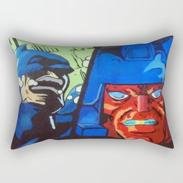 Anger in Animation Rectangular Pillow