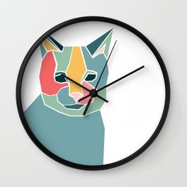 Graphic Cat Wall Clock
