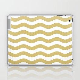 Wavy Stripes Patten Gold Laptop & iPad Skin
