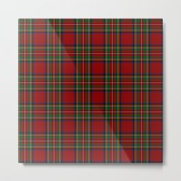The Royal Stewart Tartan Metal Print