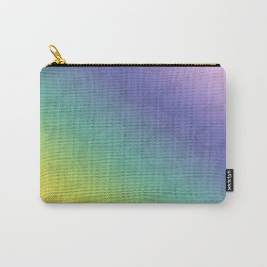 Floral rainbow color pattern . Carry-All Pouch