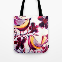 Finches in the Flowers I Tote Bag
