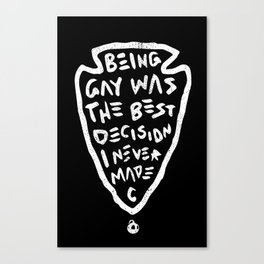 Being Gay Black Canvas Print