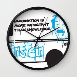 Albert Einstein - Streetwise Seniors Wall Clock