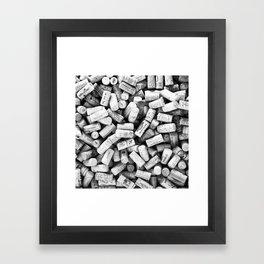 Something Nostalgic II Twist-off Wine Corks in Black And White #decor #society6 #buyart Framed Art Print