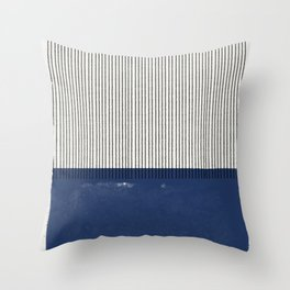 Navy Blue Mid Century  Throw Pillow