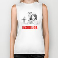 jfk Biker Tanks featuring JFK Assassination: Inside Job! by InvaderDig