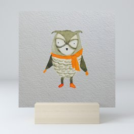 Wise Owl Forest Friends Baby Animals Mini Art Print