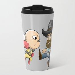 saitama vs chucknorris Travel Mug