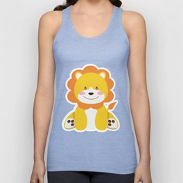 Lion in the savannah Unisex Tank Top