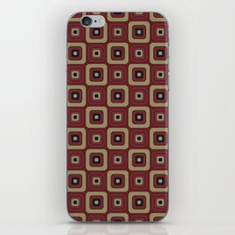 Retro Building Blocks Vintage Seamless Pattern iPhone Skin