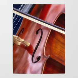 Cello the Bridge and the Bow Poster