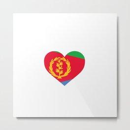 Eritrea  love flag heart designs  Metal Print