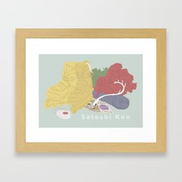 Satoshi Kon Tribute Framed Art Print