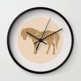 Percheron in Paris Wall Clock
