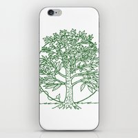 coasters iPhone & iPod Skins featuring Forest Lover's Tree by KimberlyVautrin