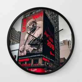 Uzi Times Square NYC 2018 Wall Clock