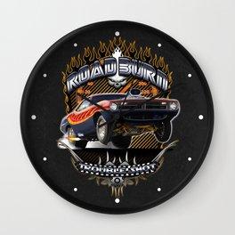 Plymouth Barracuda Road Burn - Muscle Car Wall Clock
