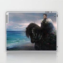 Hiraeth - Knight on Friesian black horse Laptop & iPad Skin