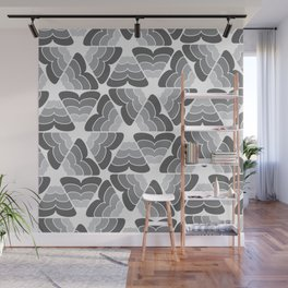 scale pattern gray white a901 Wall Mural