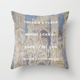 There's A Cathedral Throw Pillow