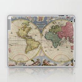 Vintage Map of The World (1665) Laptop & iPad Skin