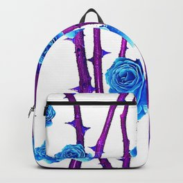 BABY BLUE ROSES &  PURPLE THORN CANES Backpack